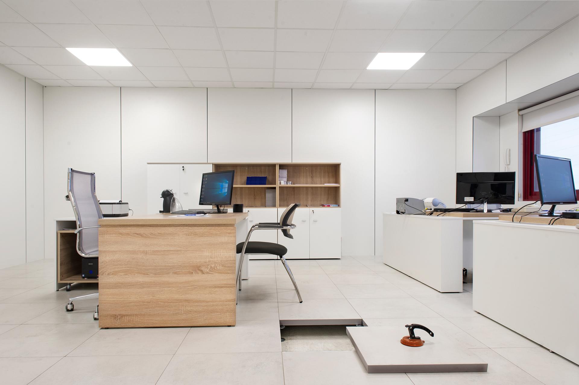Suelo técnico porcelanico para oficina