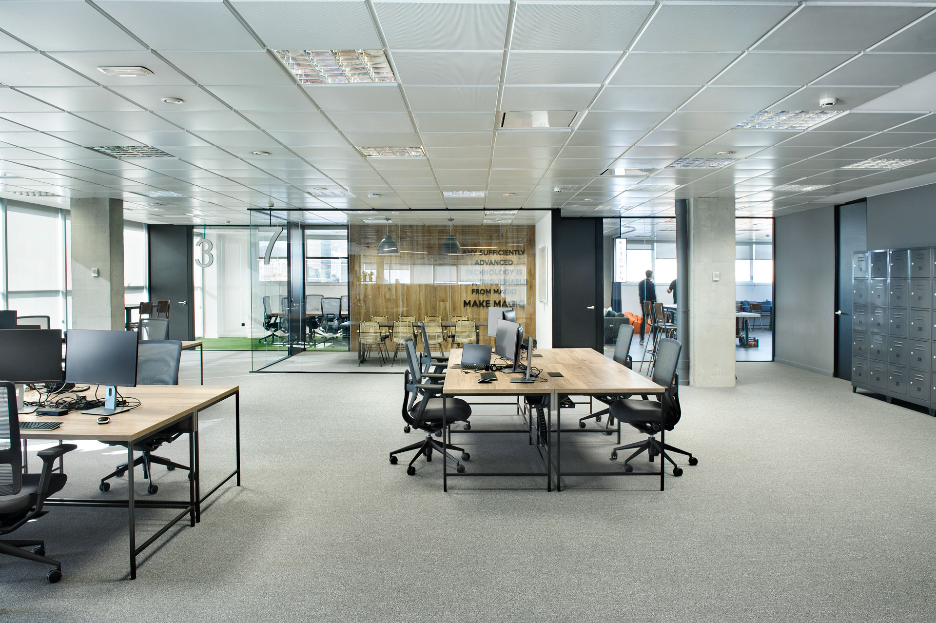 Mamparas de oficina coworking