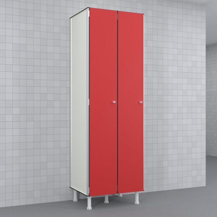 Taquilla 300 2 cuerpos 1 puerta candado Rojo 19