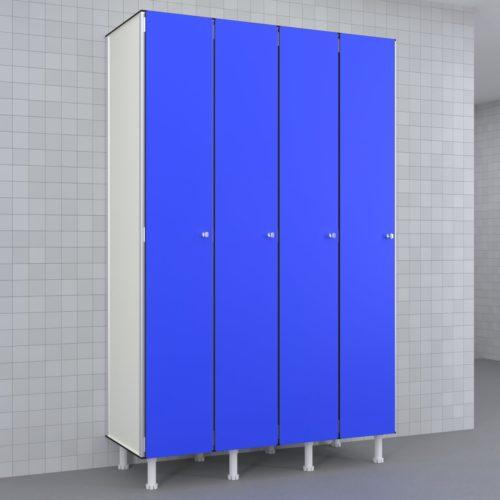 Taquilla 300 4 cuerpos 1 puerta candado Azul 853